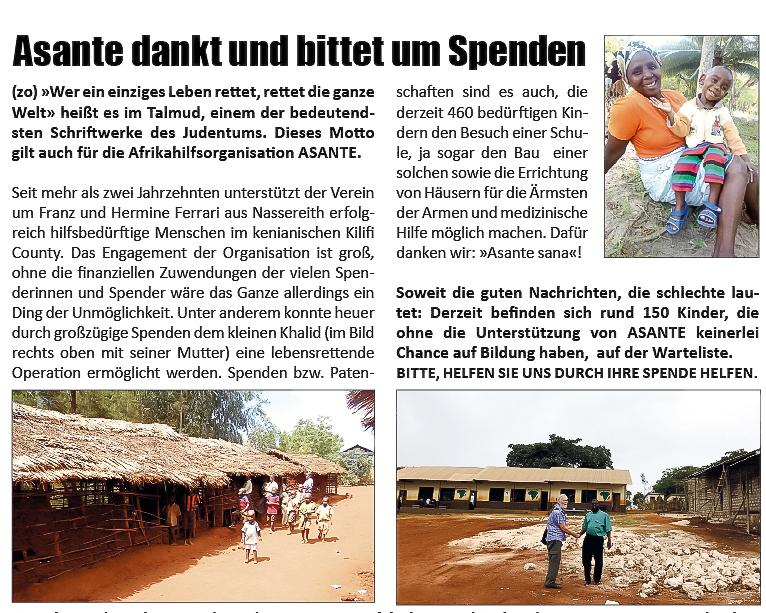 ASANTE   Oberland DABEI-Novemberausgabe
